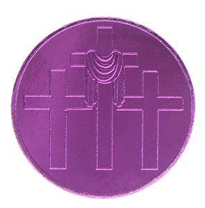 John 3:16 Easter Purple Aluminum Coin
