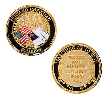 Onward Christian Soldier Challenge Coin