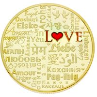 Words of Love Deluxe Coin Gold Plated
