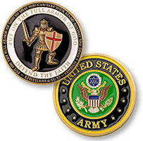 US Army Armor of God Coin