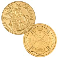 Firerfighters St. Florian - Cross - Coin Gold