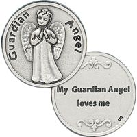 My Guardian Angel Loves Me Silver Coin