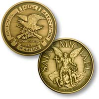 NRA Rife Seal With Saint. Michael Coin