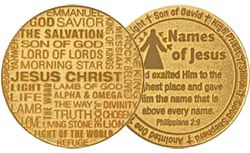 Names of Jesus Gold Plated Deluxe Coin