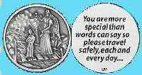 Angel and Child Special Travel Safely Coin