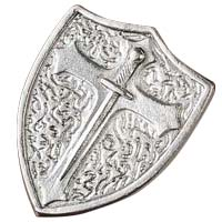Silver Armor of God Shield Pocket Token
