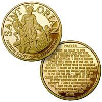 Firerfighters Prayer St. Florian Coin Gold