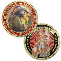 Firefighter St. Florian Prayer  Coin Gold