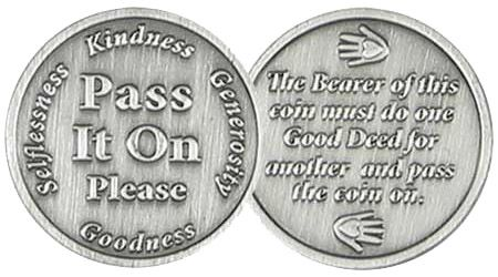 Pass It On Pocket Coin - Pay It forward