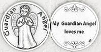 Boy Guardian Angel Tokens Coins