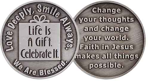 Life is a Gift With Jesus Coin