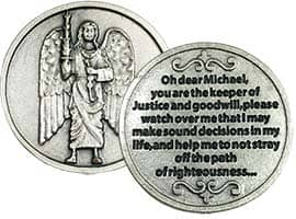 Archangel Michael Pocket Token Protect Devotional Prayer