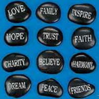 Faith Inspirational Words Stones