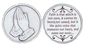 Christian Coins Inspirational- Faith is  Heb 11.1