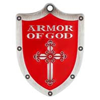 Armor of God Shield Pocket Token Red