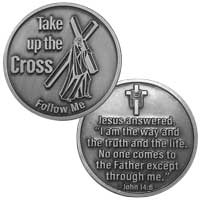 Follow Me Jesus Coin Silver, John 14:6