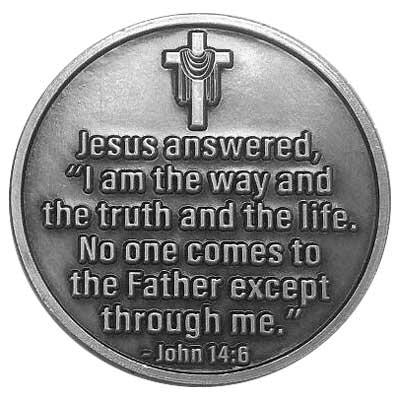 Follow Me Easter Coin Silver, John 14:6 Lent
