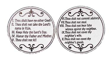 10 Commandments Silver Coin
