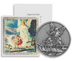 Guardian Angel Guide Us Coin & Prayer Card