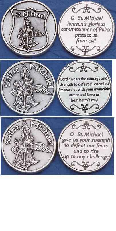 St Michaels militarty serviceman coins large