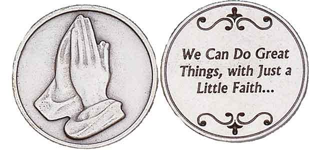 Great things Through Faith Coin, Praying Hands