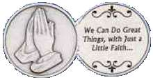 Great things Through Faith Coin and Praying Hands