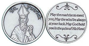 St. Patrick Irish Catholic Coin Token Silver