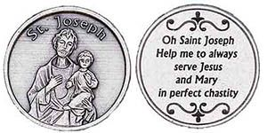 St. Joseph Help Us Serve Jesus Coins
