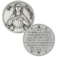 St. Agatha Heal Breast Cancer Coin