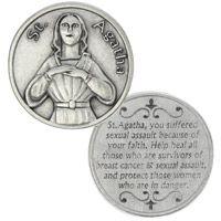 St. Agatha Heal Breast Cancer Coin