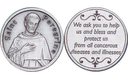 St. Peregrine Cancer Protection Coin