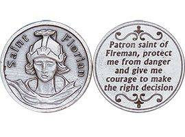 St. Florian Fireman Protection Coin Silver