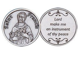 St. Francis  Peace Coin Silver