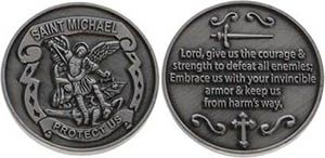 St Michael Servicemen Protect Us Coin