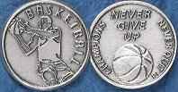 Basketball - Never Give Up - Coin