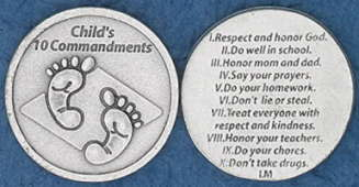 Child's 10 Commandments Coins