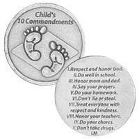 Child's 10 Commandments Coin