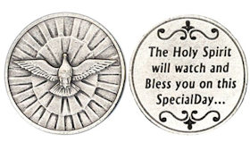 Holy Spirit Dove Confirmation Coin