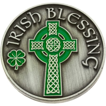 Irish Blessing Coin with Celtic Cross