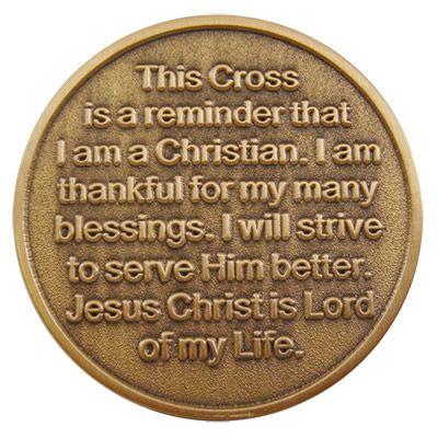 Christian Coin Cross Coin Collectible Gifts Religious Keepsakes
