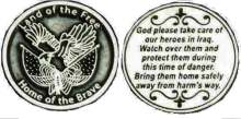 God Take Care of Our Heroes in Iraq Coin