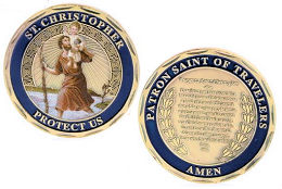 St. Christopher Travelers Prayer Deluxe Coin