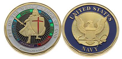 US Navy Armor of God Coin