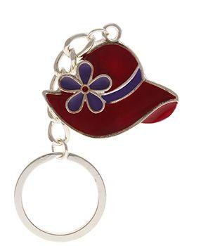 Red Flower Hat Keychain