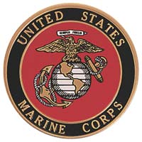 Marine Medallion Metal Coin Decal