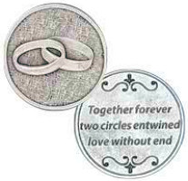 Together Forever Wedding Coin Pocket Coin