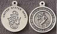 St. Christopher Pewter Navy Medal
