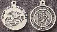 St. Christopher Pewter Marine Corps Medal