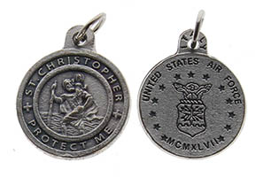 St. Christopher Pewter Air Force Charm