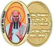 St. John Vianney Year of the Preist Coins